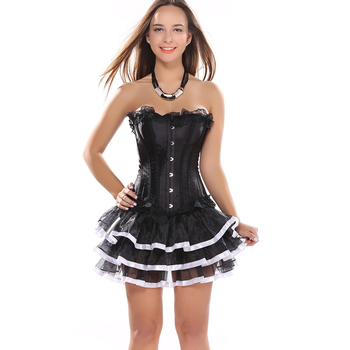western bustier corsets dress newest fashion lace up waist