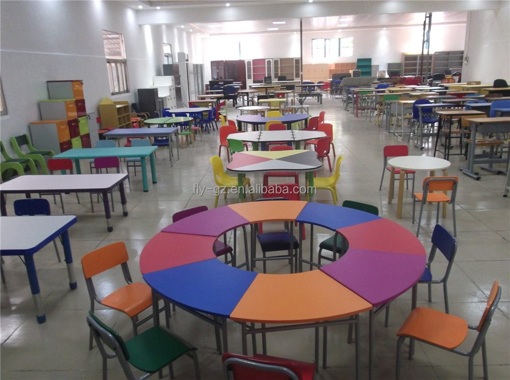 Classroom Furnitures : Cheap elementary school desk with chairs children