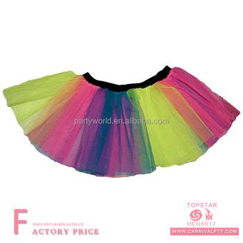 metà fuori 85411 0d6d0 Commercio All'ingrosso Adulto Del Sesso Classico Neon Rosa Tutu Arcobaleno  Tutu Gonna Blu Rosa Caldo Giallo Neon Vestito - Buy Pannello Esterno Del ...