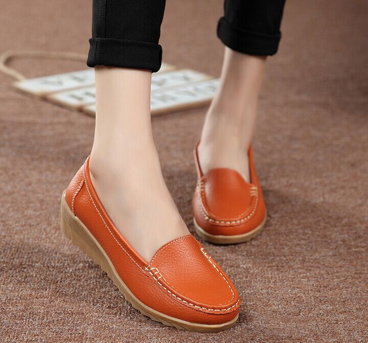 Leather women flat shoes women casual shoes ladies women shoes 2017