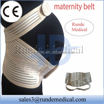 Runde high elastic maternity support belt with steel bars