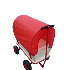 Wholesale customized outdoor kids toys wagon with canopy