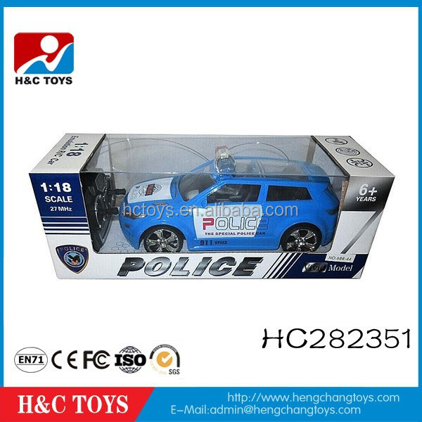1:18 4CH rc police toy car high quality 27MHz mini rc car HC282351