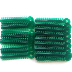 colorful orthodontic elastic ligature ties for dental braces