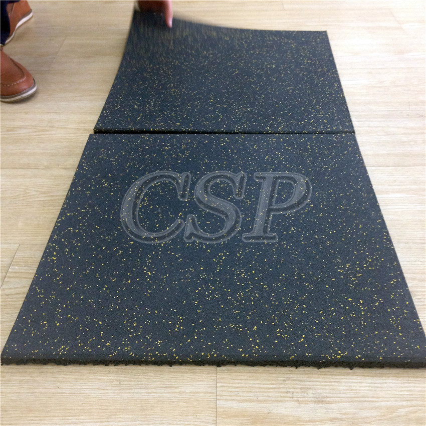 Made In China Crossfit Rubber Floor Mat,Black With Epdm Speckles ...