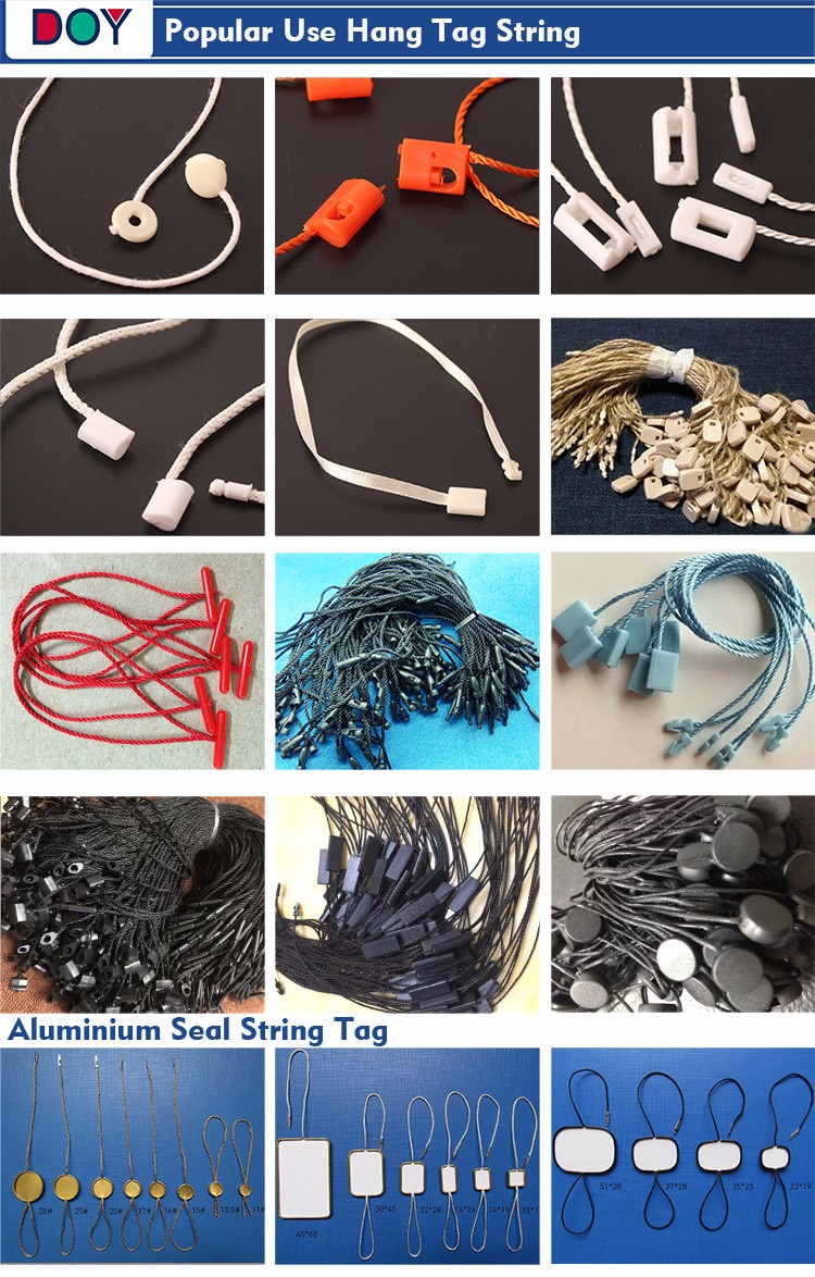 Mini Plastic String Tag for Garment Fashion