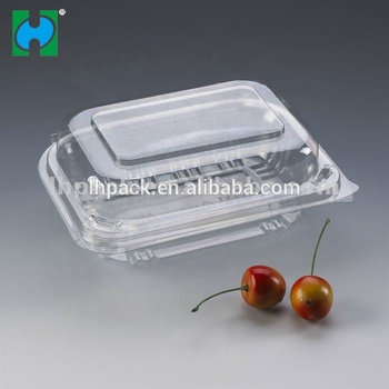 Good quality PET disposable lowest price food Transparent plastic dry fruit box with lid