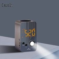 touch sensor design led alarm clock with bluetooth speaker