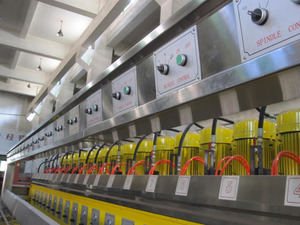 Fully automatic stone line profiling polisher with 16 heads