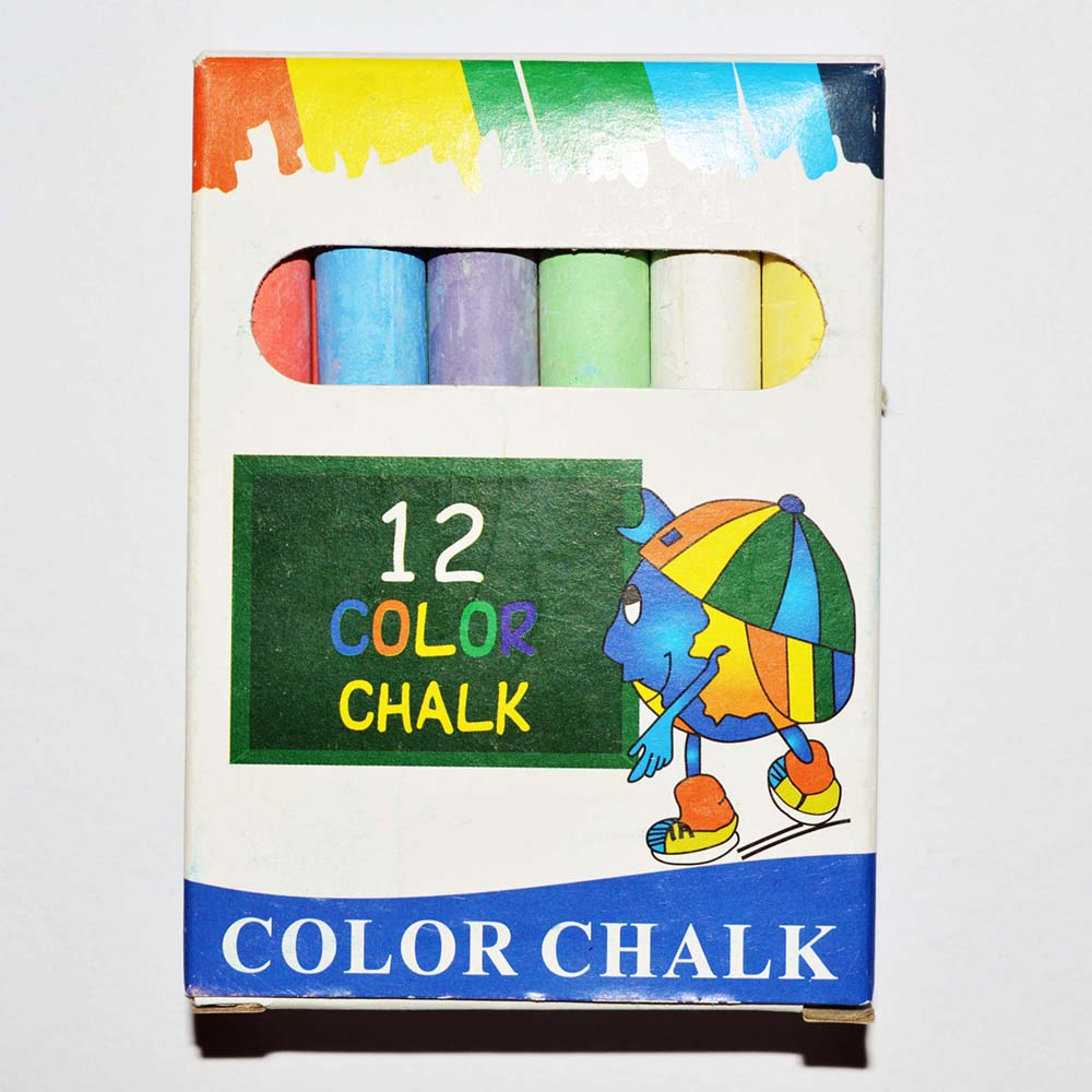 12PCS Packing School Blackboard White Color Chalk