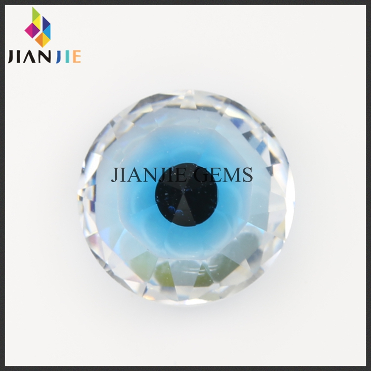 Factory Price Beautiful Devil Eye Cubic Zirconia CZ Synthetic Gemstone