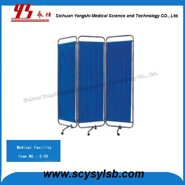 Hospital Sickroom Furniture 3 Folding medical Ward Bed Screen for Patient