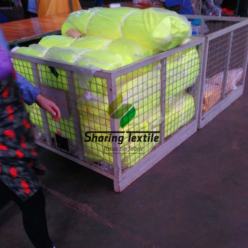 PASS EN20471 Standard Wholesale All Types Neon Fabric High Visibility Reflective Safety Vest Workwear Sportswear Fabric