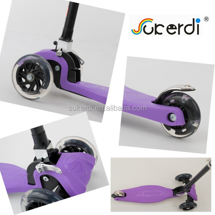 new 3 wheel mini maxi folding flicker kick n go foot pedal hs code scooter