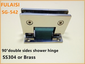 FULAISI Stainless Steel Glass Hinge & Shower Glass Door Hinge or Glass Bracket