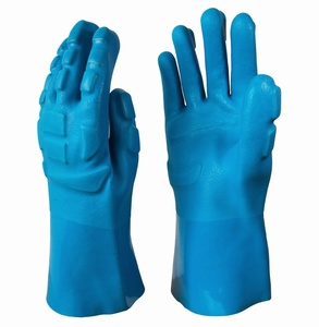 Blue anti-Impact TPR PVC coated Gloves FOR CONSTRUCTION