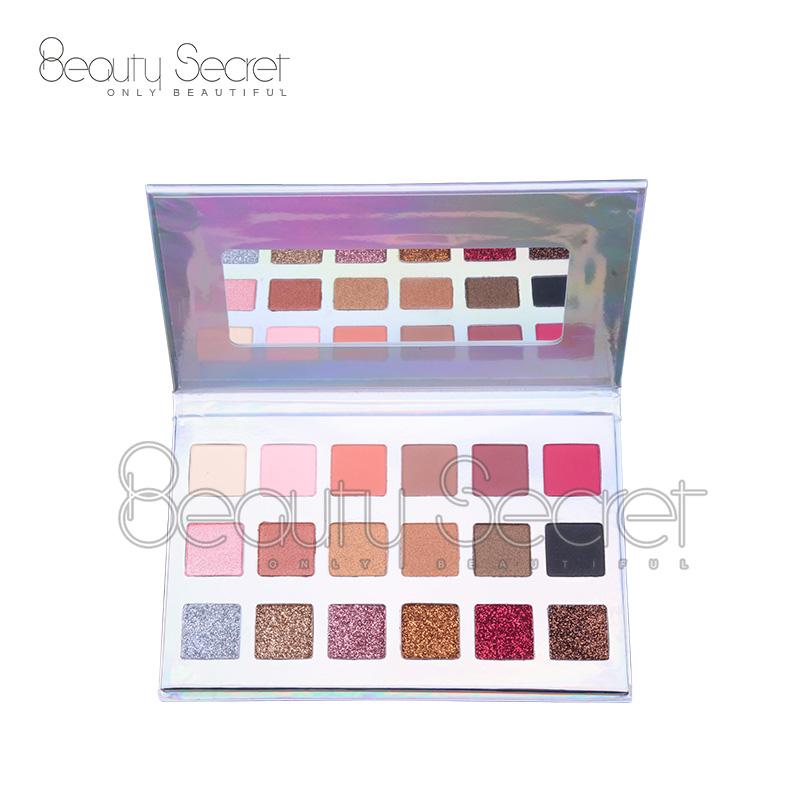 Wholesale Eye shadow box packaging OEM offer private label marble eyeshadow palette