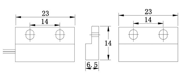 FBMC009 magnetic door contact switch surface mounted light switch wireless magnetic door contact/sensor (FBELE)
