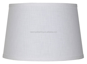 Hotel Lamp Shades/ White Linen Drum Lamp Shade - Buy Linen Lamp ...