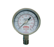 stainless steel adjustable pointer zero adjustable pressure gauge