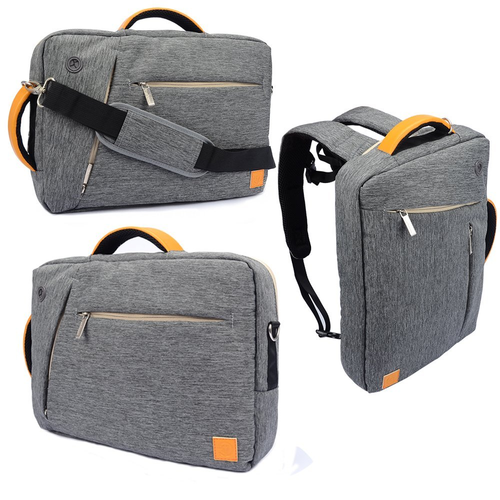 "VanGoddy 10 Inch Universal Hybrid Backpack / Briefcase / Messenger / Tote, 4 in 1 Multifunction Carrying Bag for 9.7"" 10.1"" 10.5"" 10.8"" 12"" 12.2"" 12.3"" 12.5"" Laptop / Tablet (Grey)"