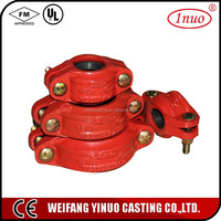 FM UL certificated grooved flexible pump couplings