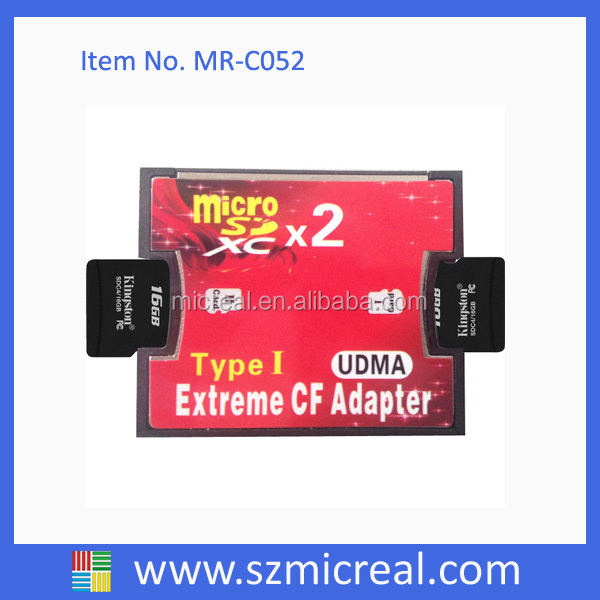 Two Slots MMC to CF Type 2 Card Adapter For Sales