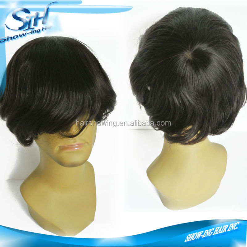 Invisible hairline fine welded mono full cap wig for men