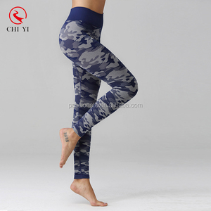 chiyi produced sports leggings camo printed gym wear high quality yoga pants women