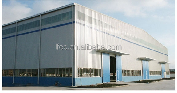 Prefab low cost industrial shed designs with steel frame