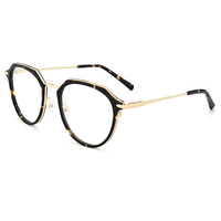 Fashionable unisex irregular acetate combine metal eye glass frames