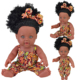 China manufacture 12inch Black Baby dolls real African American doll for kids gift