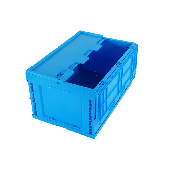 58l Folding Collapsible Vented Plastic Crate With