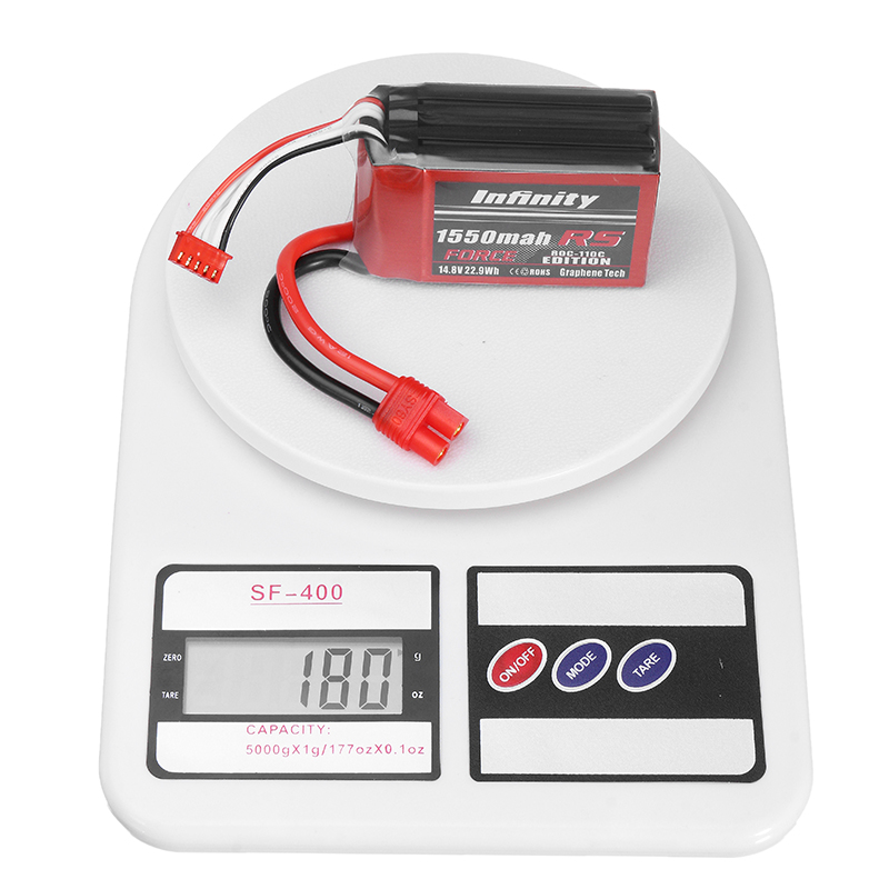 Infinity 4S Square 1550mAh 80C 14.8V LiPo Battery