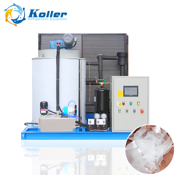 5 tons air cool ice maker sea fish cooling flake ice making machine