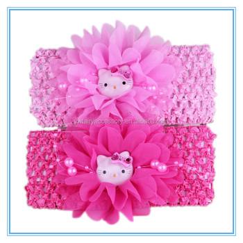 Rhinestone Flower Crochet Baby Headband f97a80b9f8b