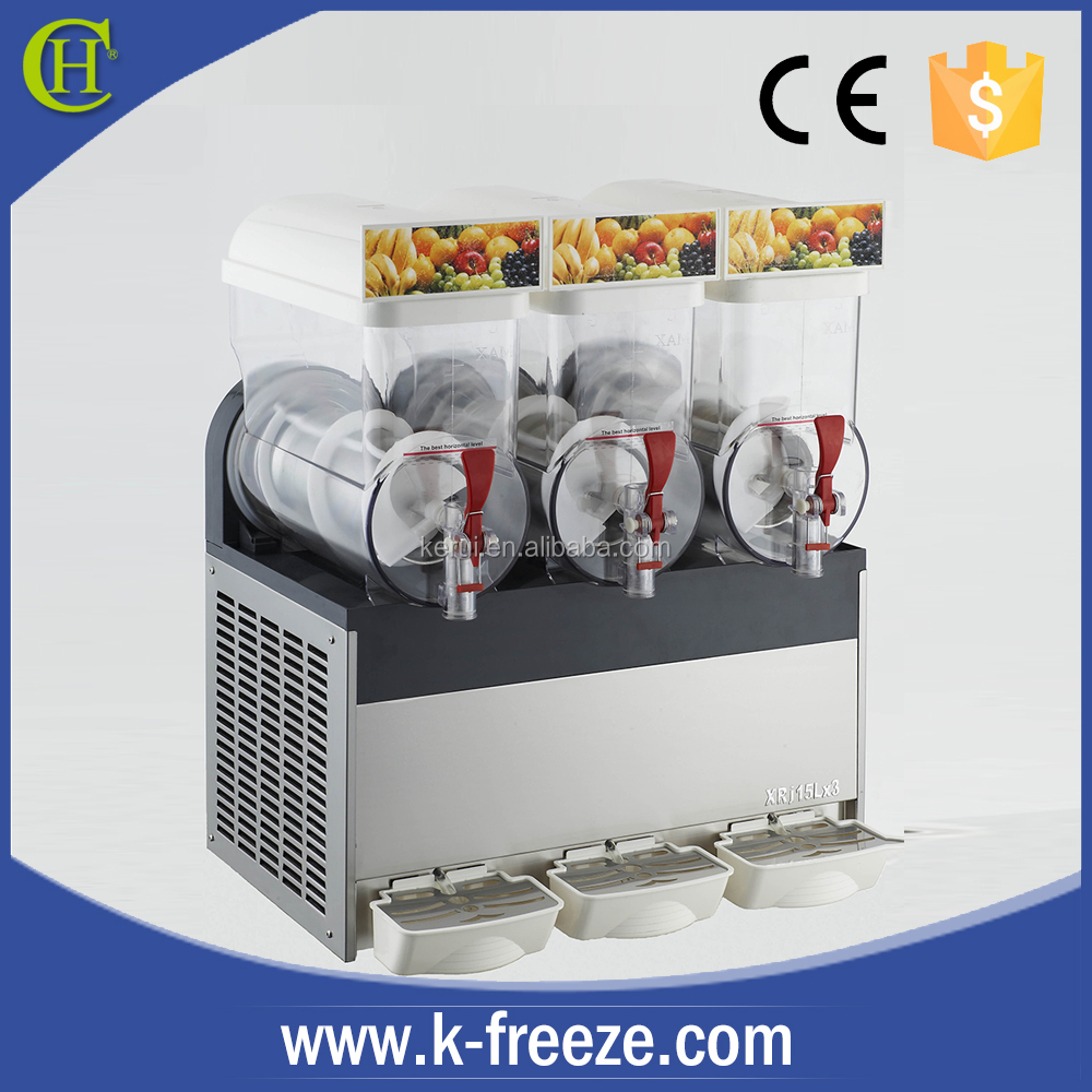 Cheap slush machine, Triple 15L slush machine with CE