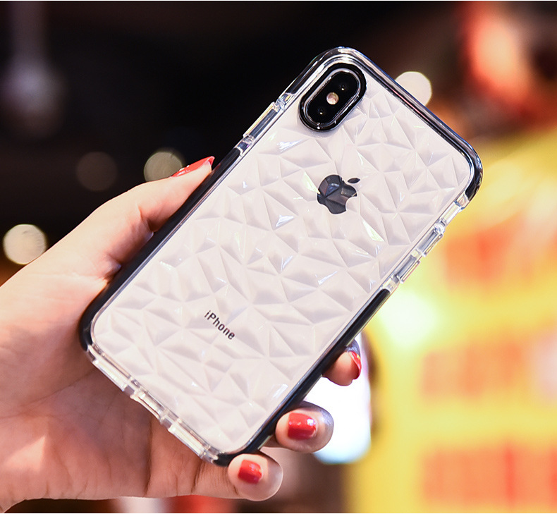 2018 New Shockproof Mobile Phone Accessories diamond Clear Phone Case For Iphone Xr XS Max Cover, For Iphone XS Case