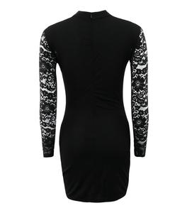 China Supplier New Fashion Print Lace Dress Women Dresses Ladies For Autumn
