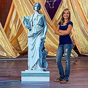 Olympus Stone Goddess Statue Standee