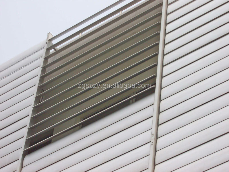 Custom Made Aluminium Alloy Motorized Wall Louvers Fixed Wall Louvers Buy Wall Louvers