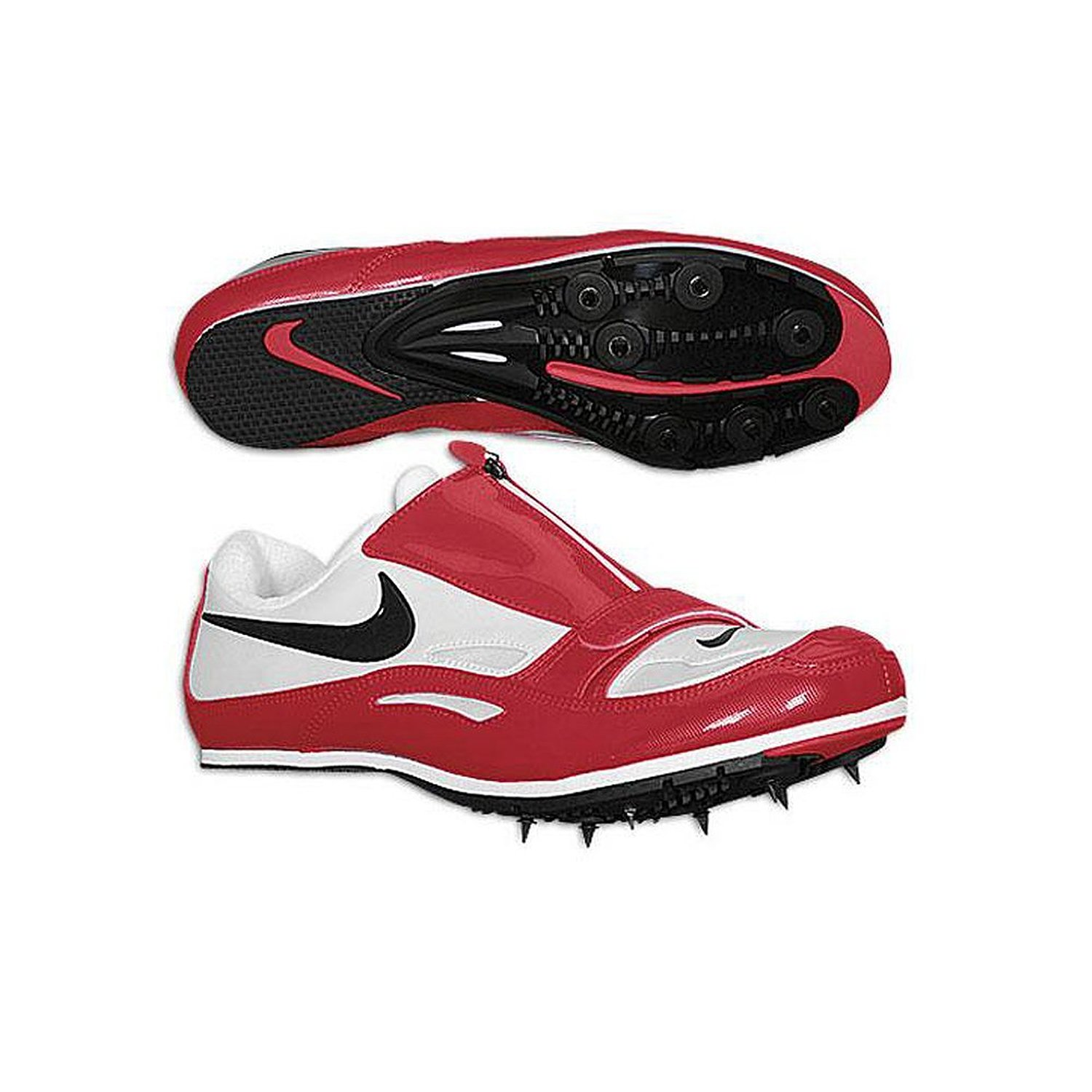free shipping f368f bb23b Get Quotations · Nike Men s Zoom Long Jump (3) Removable Spikes Shoes (Men  8.5, Red