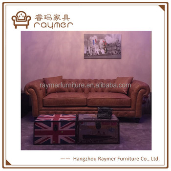Luxury Vintage Brown Leather Sofa Set 3 2 1 Seat Chesterfield Genuine Product On Alibaba