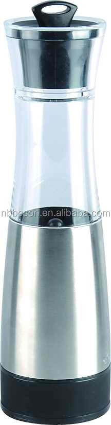 Stainless Steel manual hand-operated pepper mill/Spice mills/Top selling stainless manual pepper mill