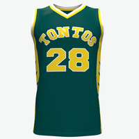 Amazing Quality custom fashion logo latest design basketball jersey green color