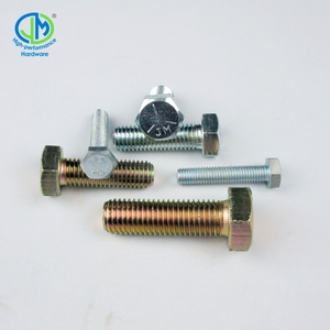 zinc yellow plated steel grade 8 hex tap bolt