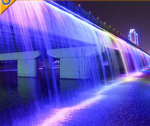 outdoor waterfall bridge Fountain water features