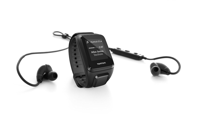 TomTom Spark Cardio + Music + Headphones, GPS Fitness Watch + Heart Rate Monitor + 3GB Music Storage + Bluetooth Headphones (Large, Black)
