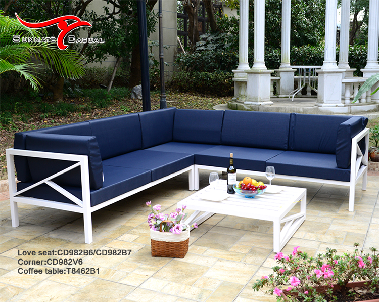 Modern Aluminum Garden Patio Outdoor Furniture Sectional Sofa Set