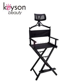 Keyson Professional Makeup Artist Directors Chair Functional Barber Chair with Headrest
